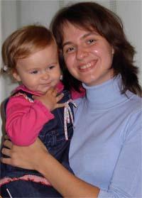 Татьяна Егорова и дочка Анечка