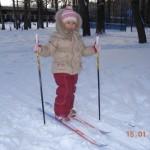 В первый раз на лыжи и коньки!